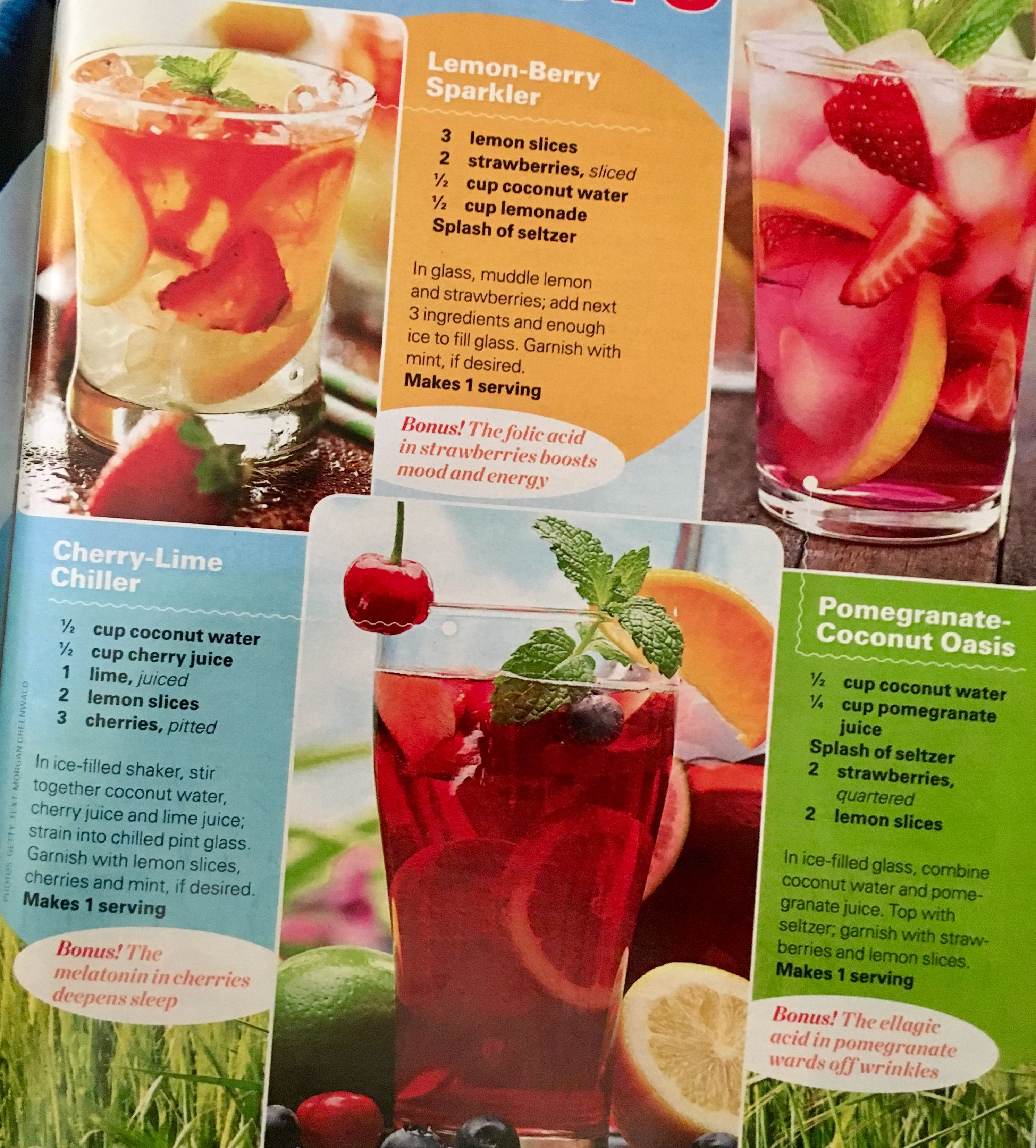 Pin By Rhonda Waddell On Let S Get Healthy Pomegranate Lemon Slice Coconut Water