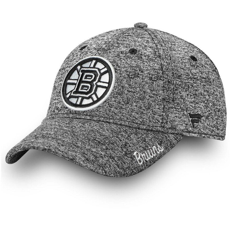 b0dc9878c19 Women s Boston Bruins Fanatics Branded Gray Black and White Fundamental Adjustable  Hat