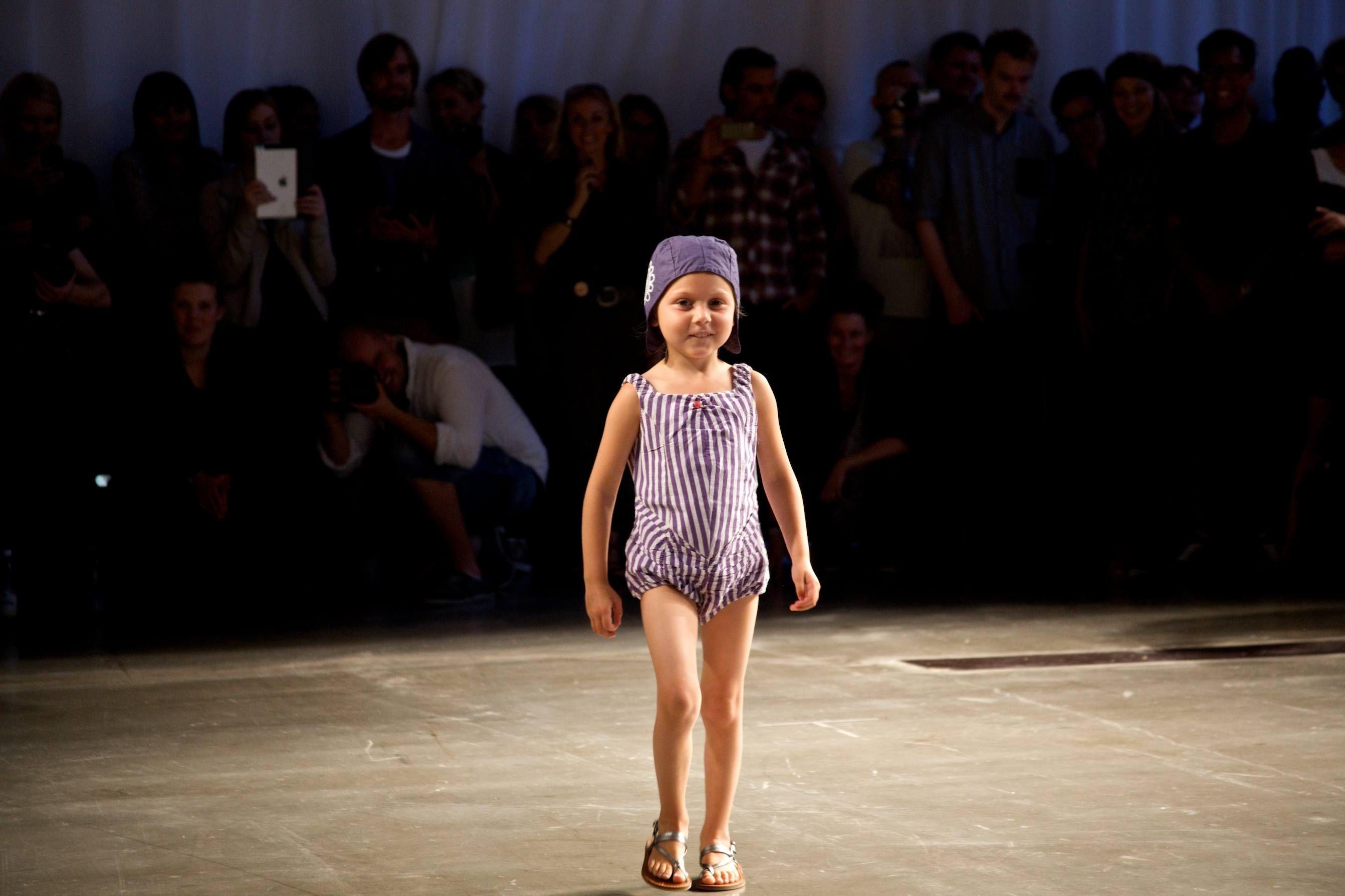 Wovenplay cotton playsuit at CPH Kids fashion show for summer 2013 #kidsfashion #childrensfashion