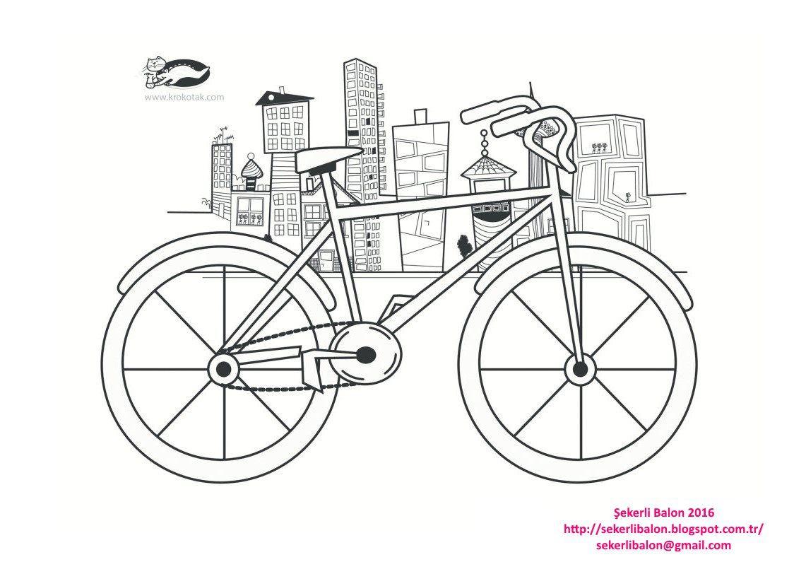 Bisiklet Boyama Bisiklet Boyama Bisiklet Faaliyetler