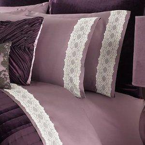 amazoncom daisy fuentes lilac glam lace 4pc queen sheet set bedding u0026