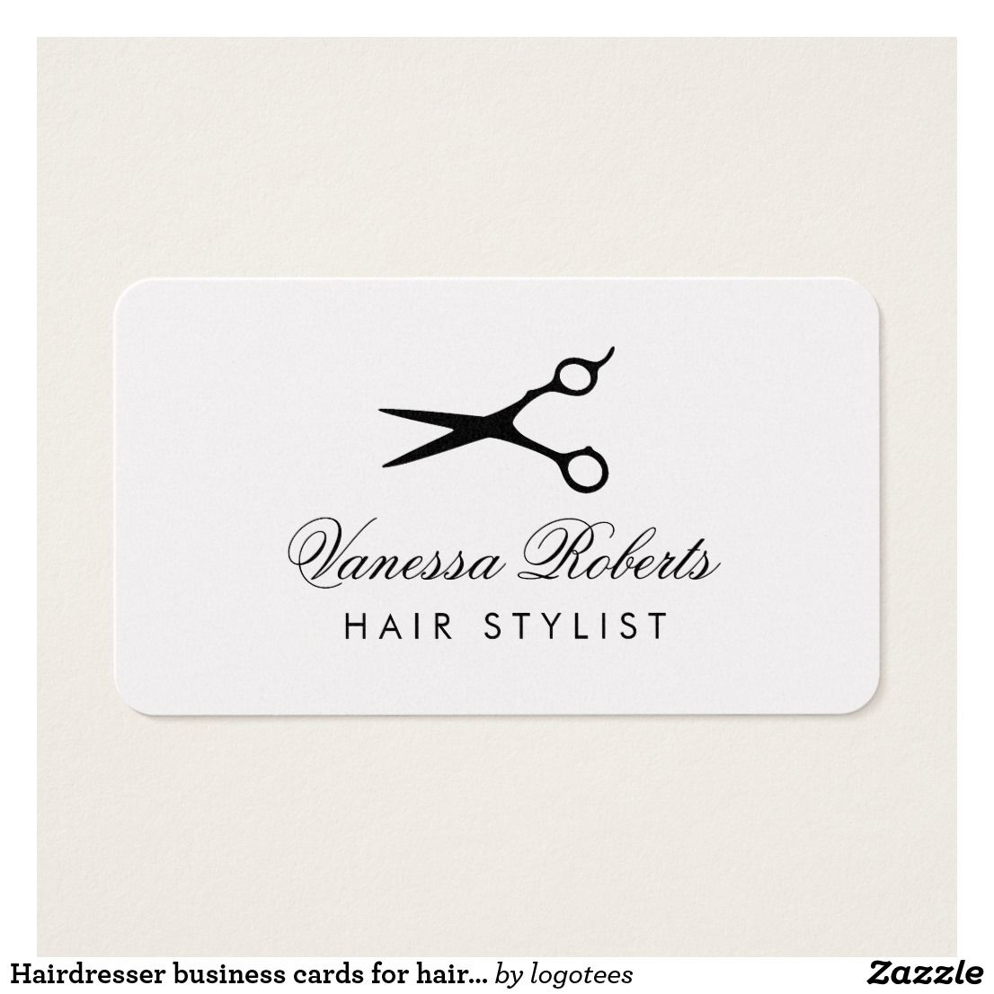Hairdresser business cards for hair stylist salons business card hairdresser business cards for hair stylist salons professional barber scissors logo with elegant and modern friedricerecipe Choice Image