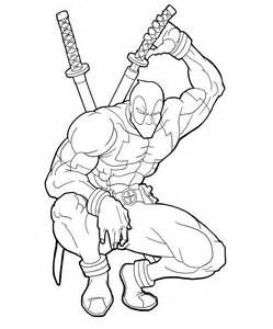 Drawing Deadpool Coloring Pages sketch template | Dessins ...