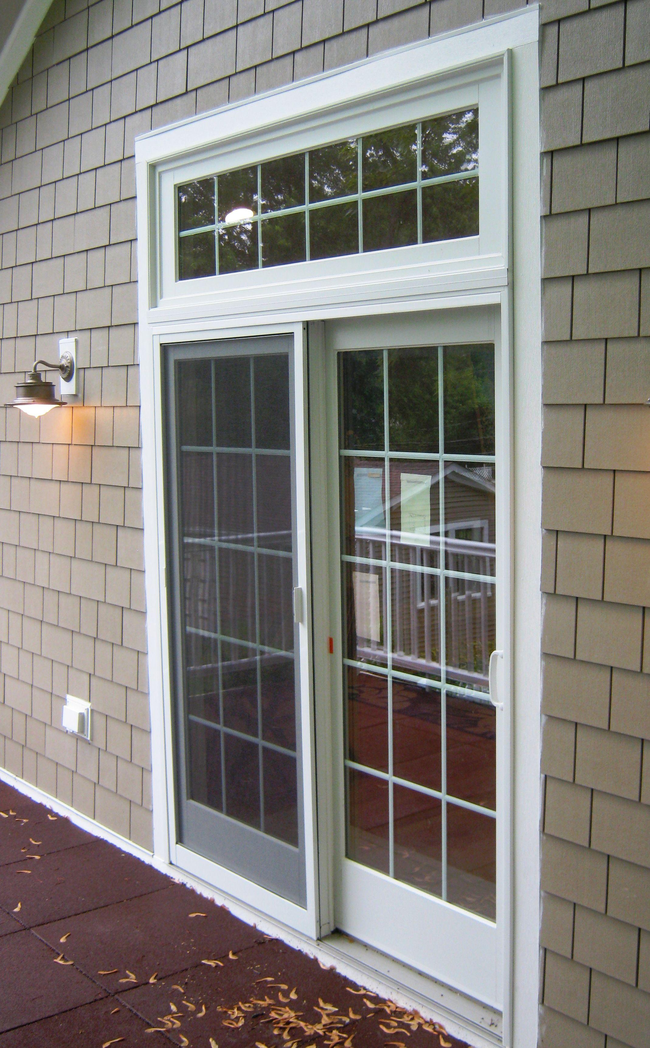 Exterior Sliding Glass Door With Window Above Installing Exterior Door Door Installation Exterior Sliding Glass Doors