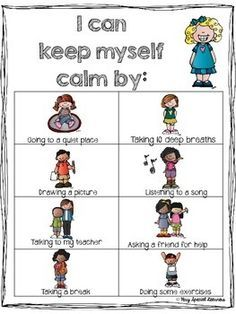 "the ""calm down"" kit …  karis' behavior  classroom"