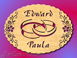 free scroll patterns of dogs   Scroll Saw Patterns :: Special occasions :: Wedding :: Wedding plaque ...