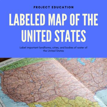Labeled Map of the United States | United states map ...