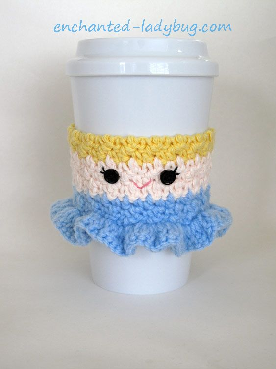 Free Crochet Pattern: Cinderella Coffee Cup Cozy | Crafts for me ...