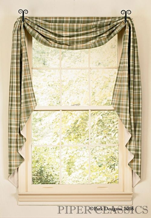 Country Style Fishtail Swags Google Search Kitchen Window