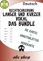 Lange und kurze Vokale - Das Bundle: Merkkarte, Arbeitsblätter und ...
