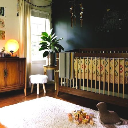 Black Walls Childs Room Kids Baby Modern Cool Decor