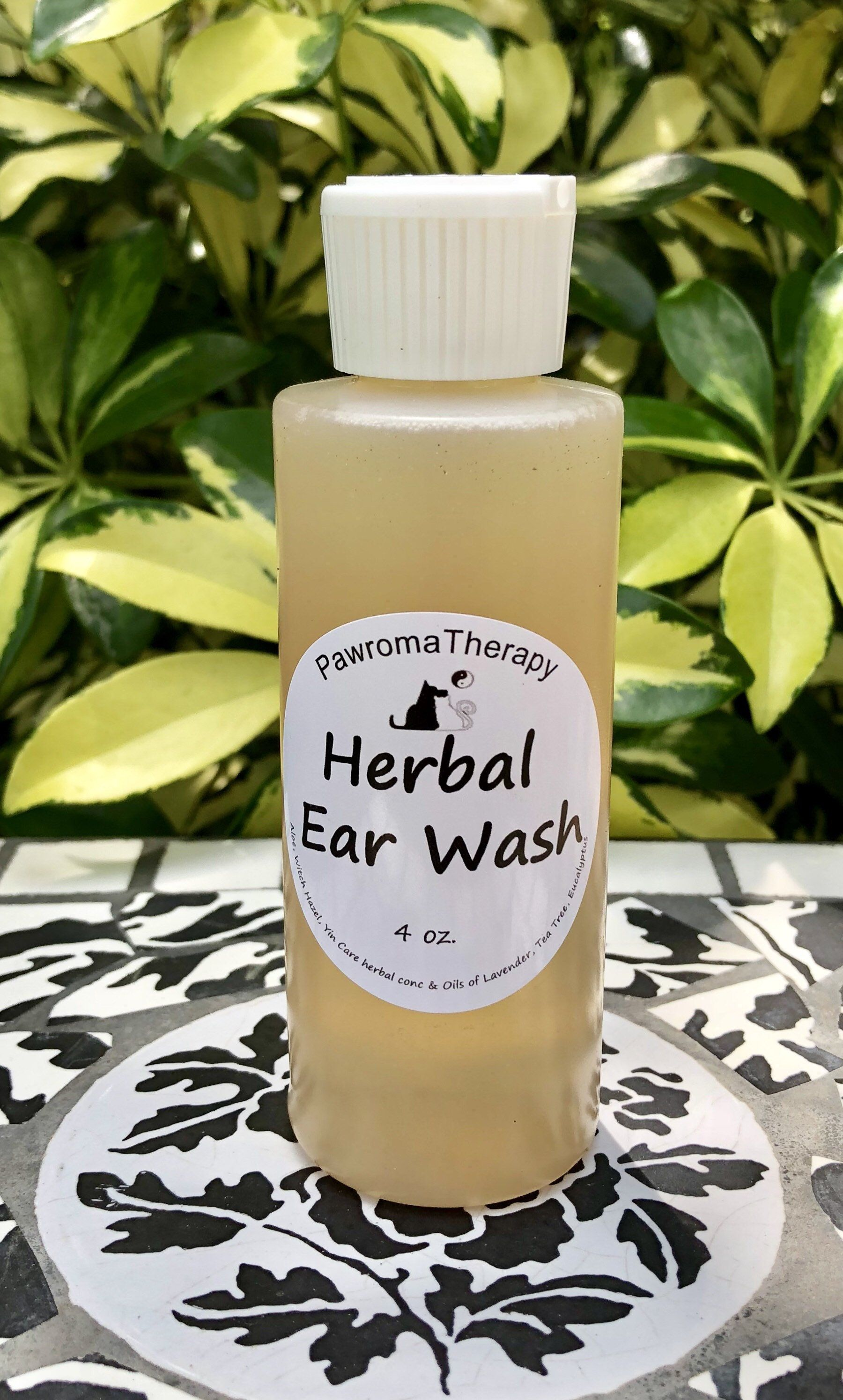 Natural Herbal Ear Cleaner for Dogs and Cats 4oz, Pet Ear