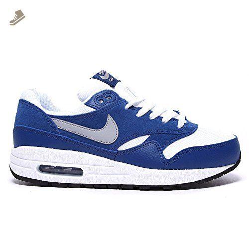 photos officielles a5d47 5c3e8 Nike Air Max 1 Blue White Youths Trainers 6Y US - Nike ...