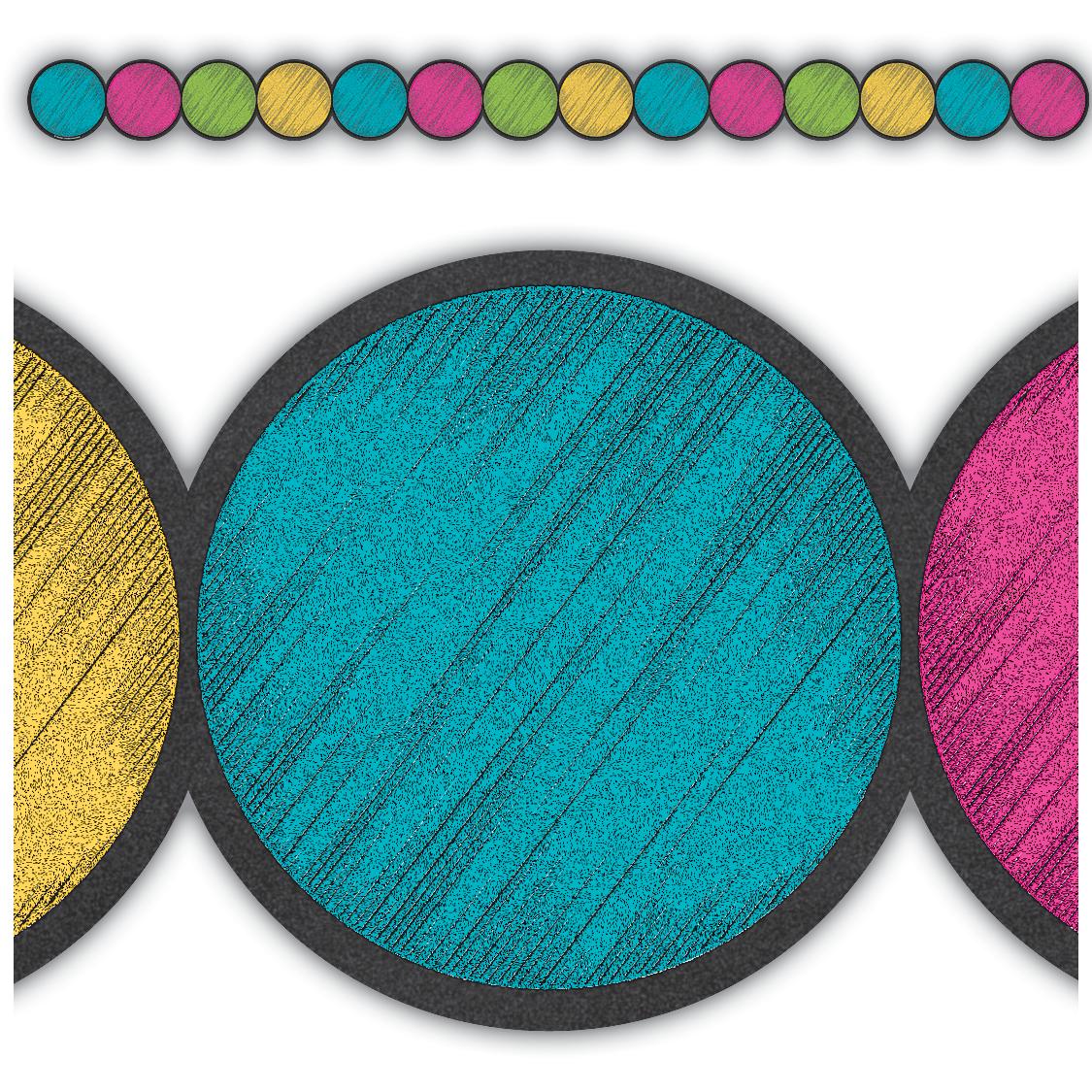 Chalkboard Brights Circles Die-Cut Border Trim   Pinterest ...