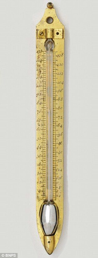 Rare Mercury Thermometer Made By Daniel Fahrenheit In Early 1700s