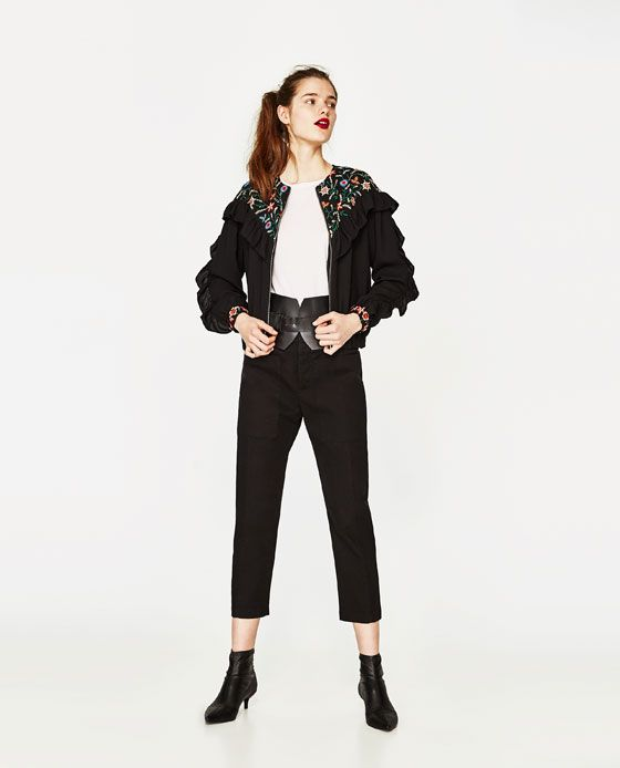 ZARA - SALE - EMBROIDERED JACKET WITH FRILLS