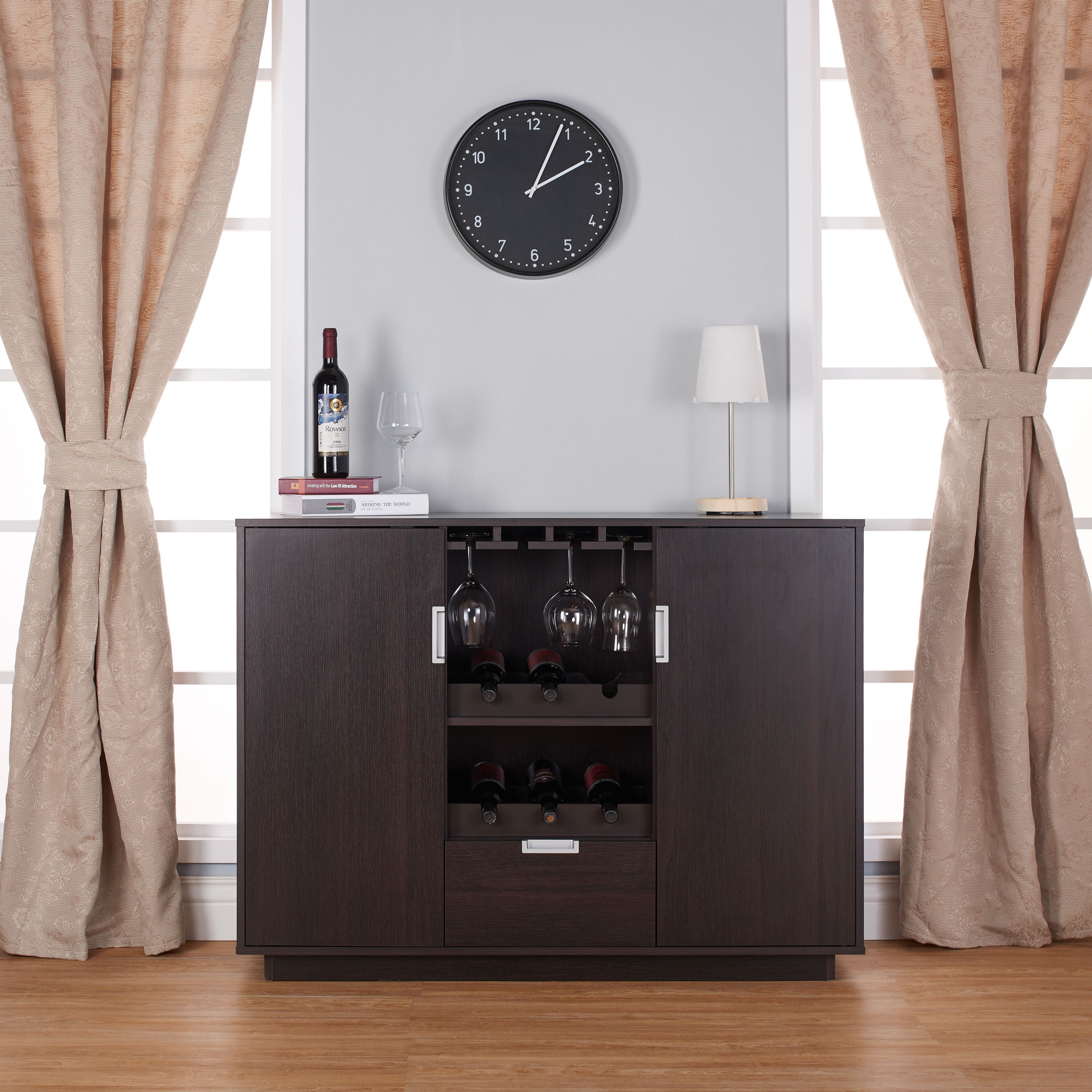 Make The Most Of Your Dining Space With This Expansive Buffet Server Store Anything From
