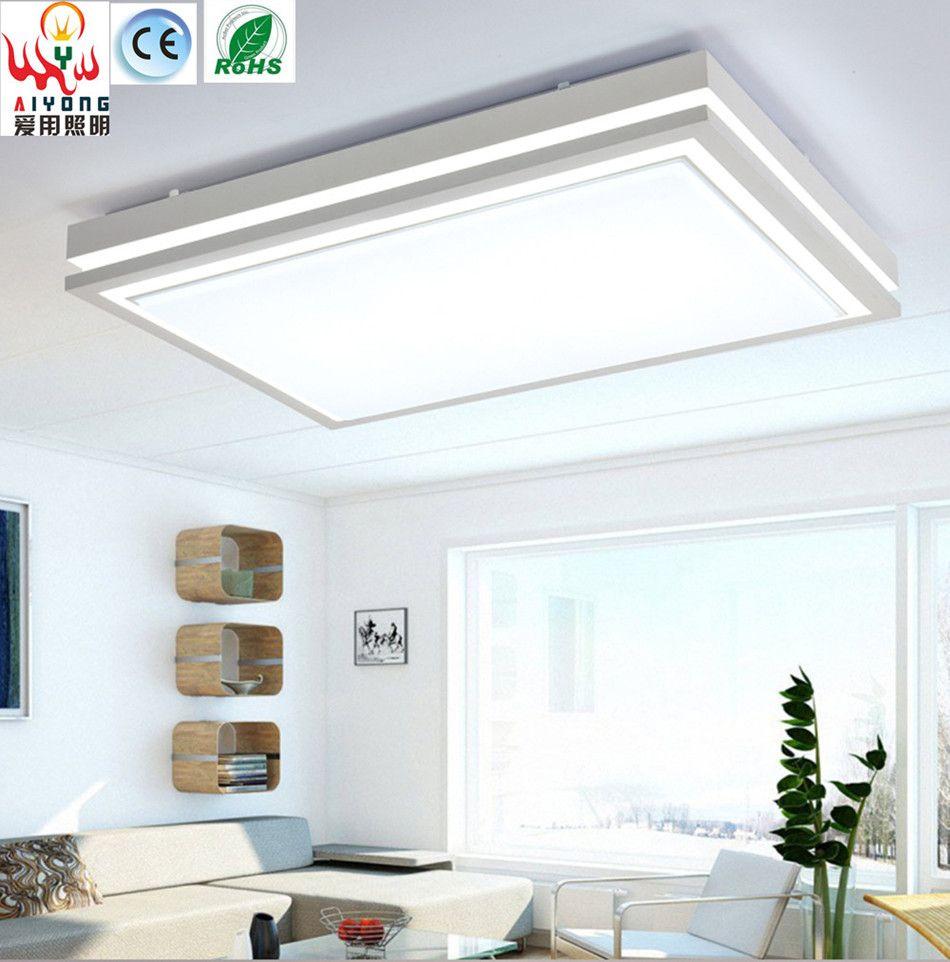 Iron led acrylic rectangular living room lamp ceiling lamp lamp ...