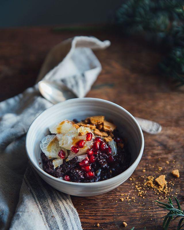 black rice porridge (With images) | Rice porridge, Black ...