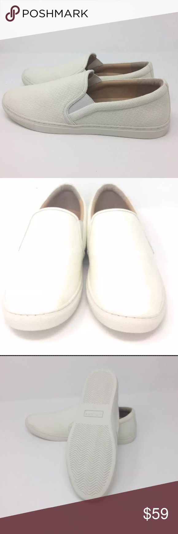 Nwot J Slides White Embossed Lux Cathie Slip On J Slides Slides Shoes Vans Classic Slip On Sneaker