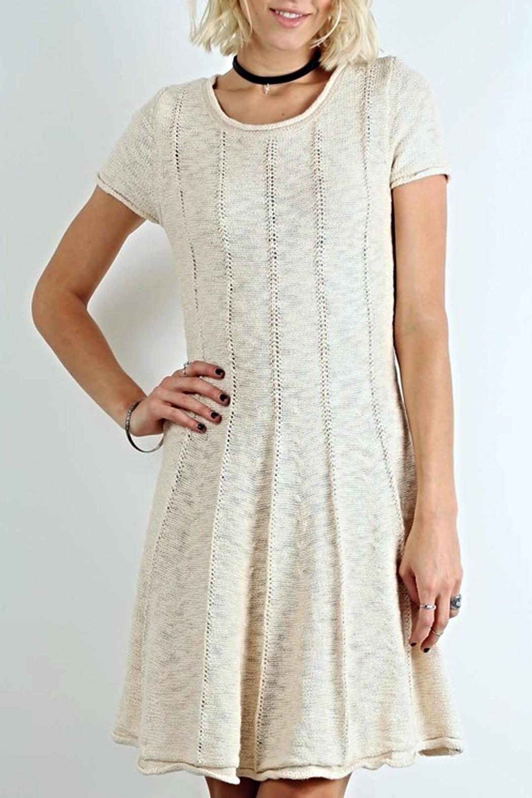Lines Knit Dress Short Sleeve Dresses Knit Dress Dresses [ 1575 x 1050 Pixel ]