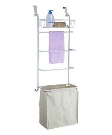 Over-the-Door Towel Rack & Laundry Hamper #zulily #zulilyfinds