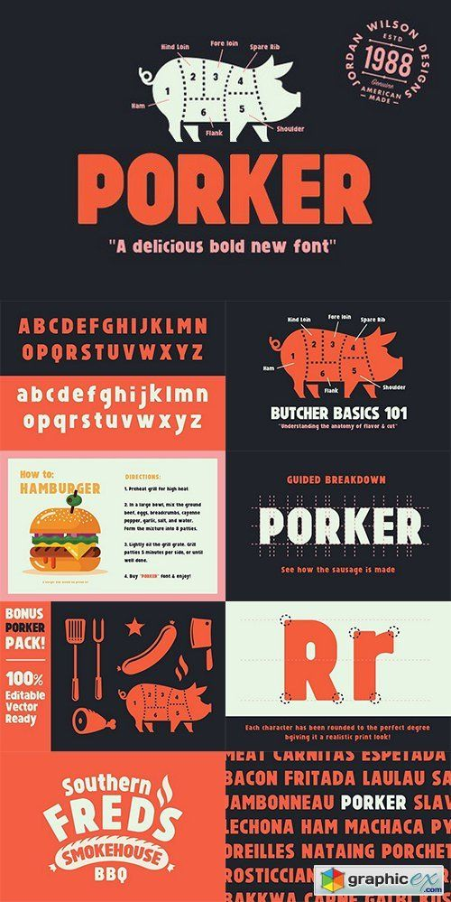 Download Porker Font (+ Bonus Pack) | Fonts, New fonts, Photoshop icons