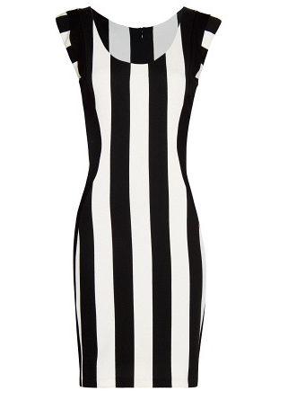Black White Vertical Stripe Sleeveless Bodycon Dress Us 23 93 Vertical Striped Dress Black White Bodycon Dress Fashion