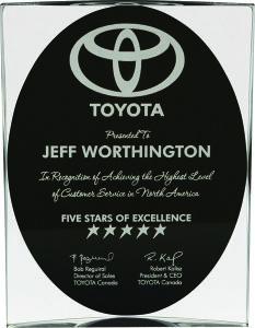 Black & Clear Apollo Clear Acrylic Award Trophy
