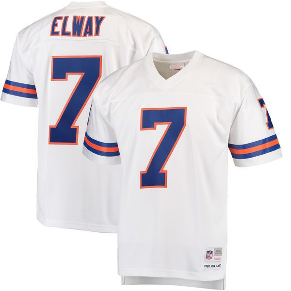buy popular e8c22 42a84 Men's Denver Broncos John Elway Mitchell & Ness White ...