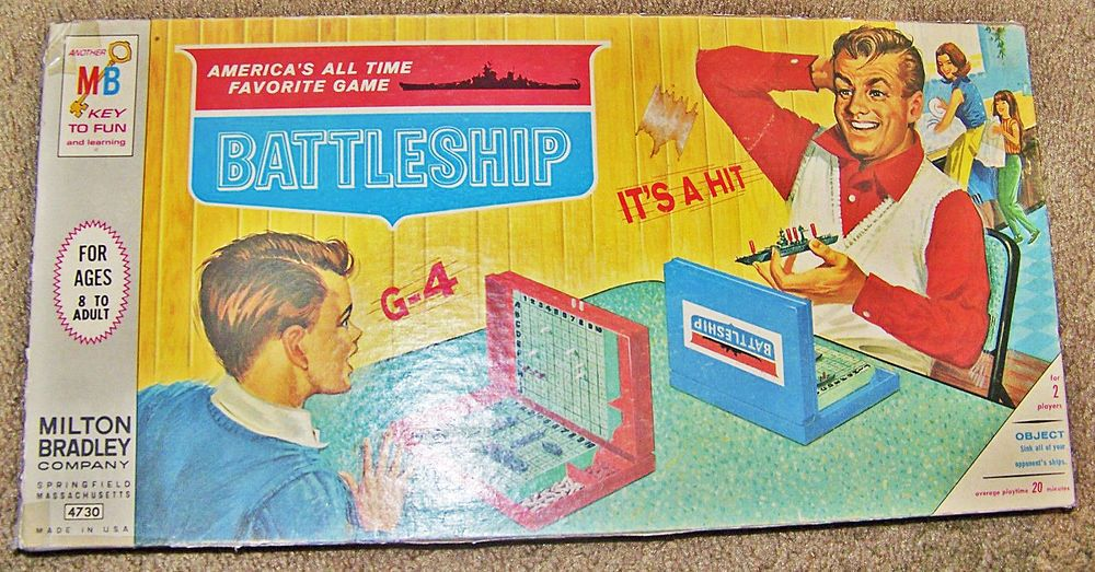 Battleship Board Game by Milton Bradley No. 4730 Original