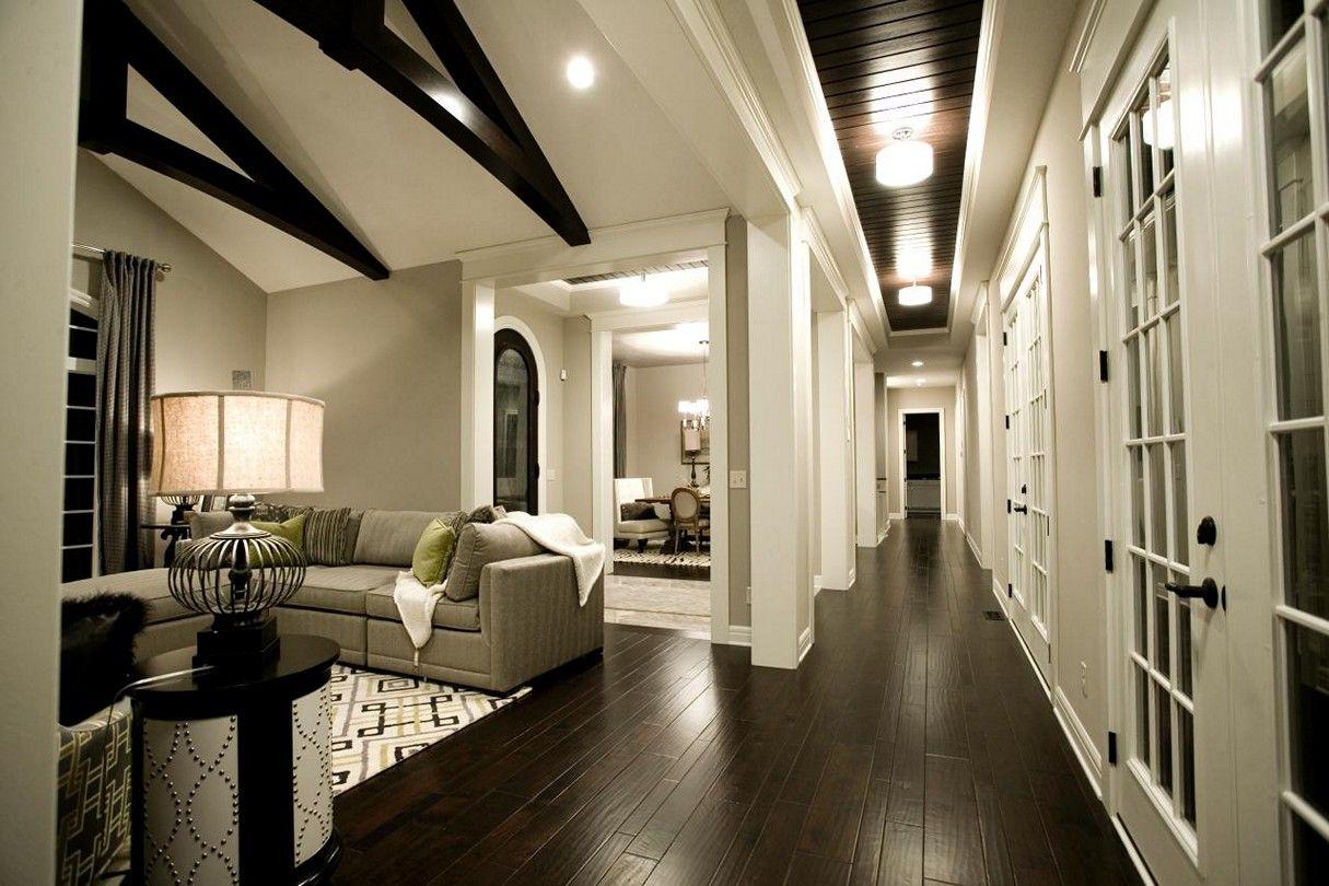 Gray Living Room Dark Floors Livingroomfurniture