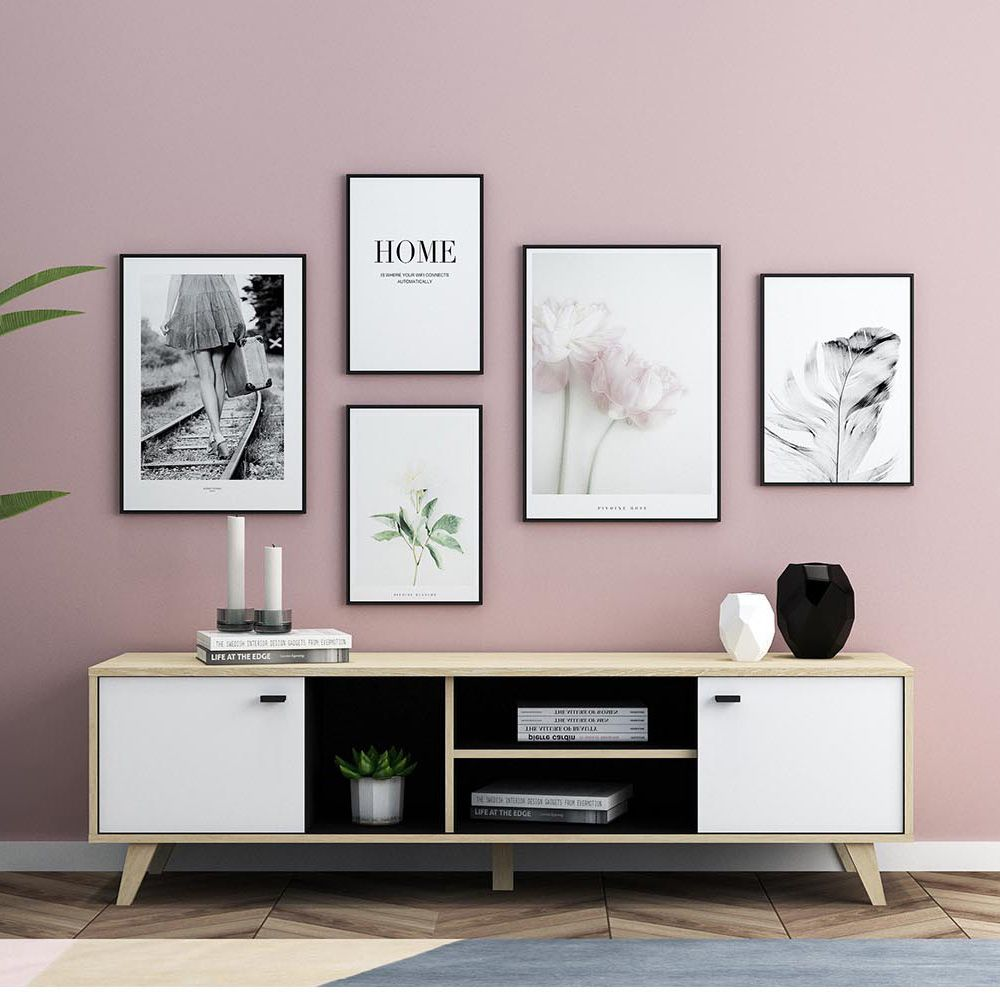 Dakila Meuble Tv En Bois Avec Placards En 2020 Meuble Tv Bois Idees De Decor Meuble Tv