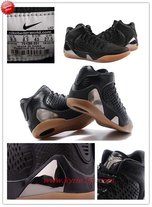 online retailer 83a51 56b22 Mens Nike Kobe 9 Mid EXT Black
