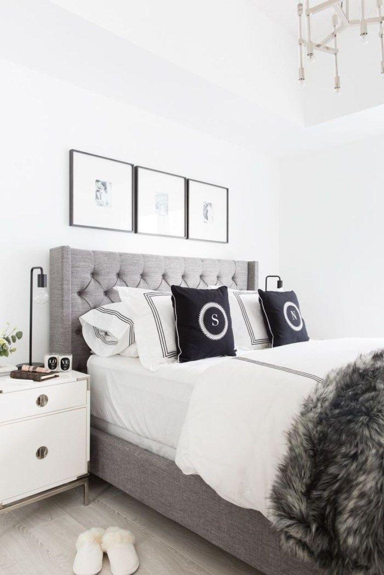 30 Romantic Black And White Bedroom Ideas You Will Totally Love Gray Master Bedroom Master Bedroom Interior Design Condo Bedroom