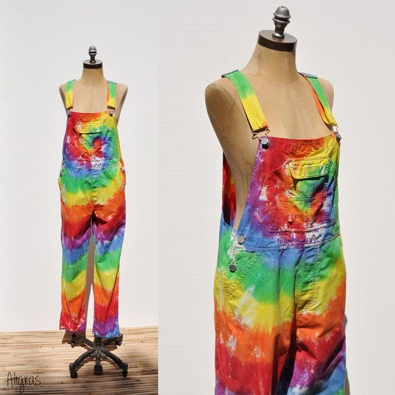 a13af396477ca 80s Tie Dye Bib Overalls | Dungarees | Vintage Overalls | #tiedye ...