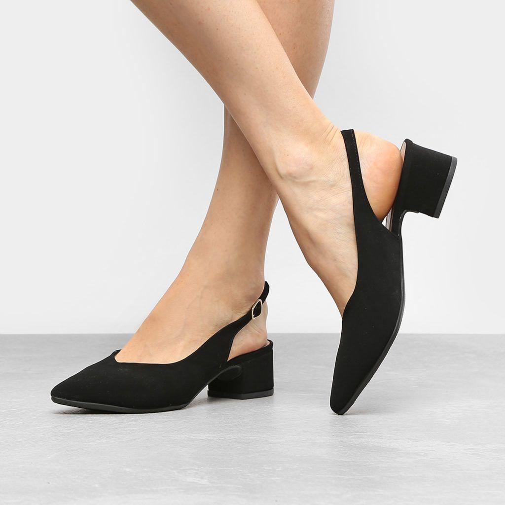 5986affd9 Scarpin Drezzup Salto Baixo Tira – Preto | Moda Feminina | Tendências da  Moda | Dicas