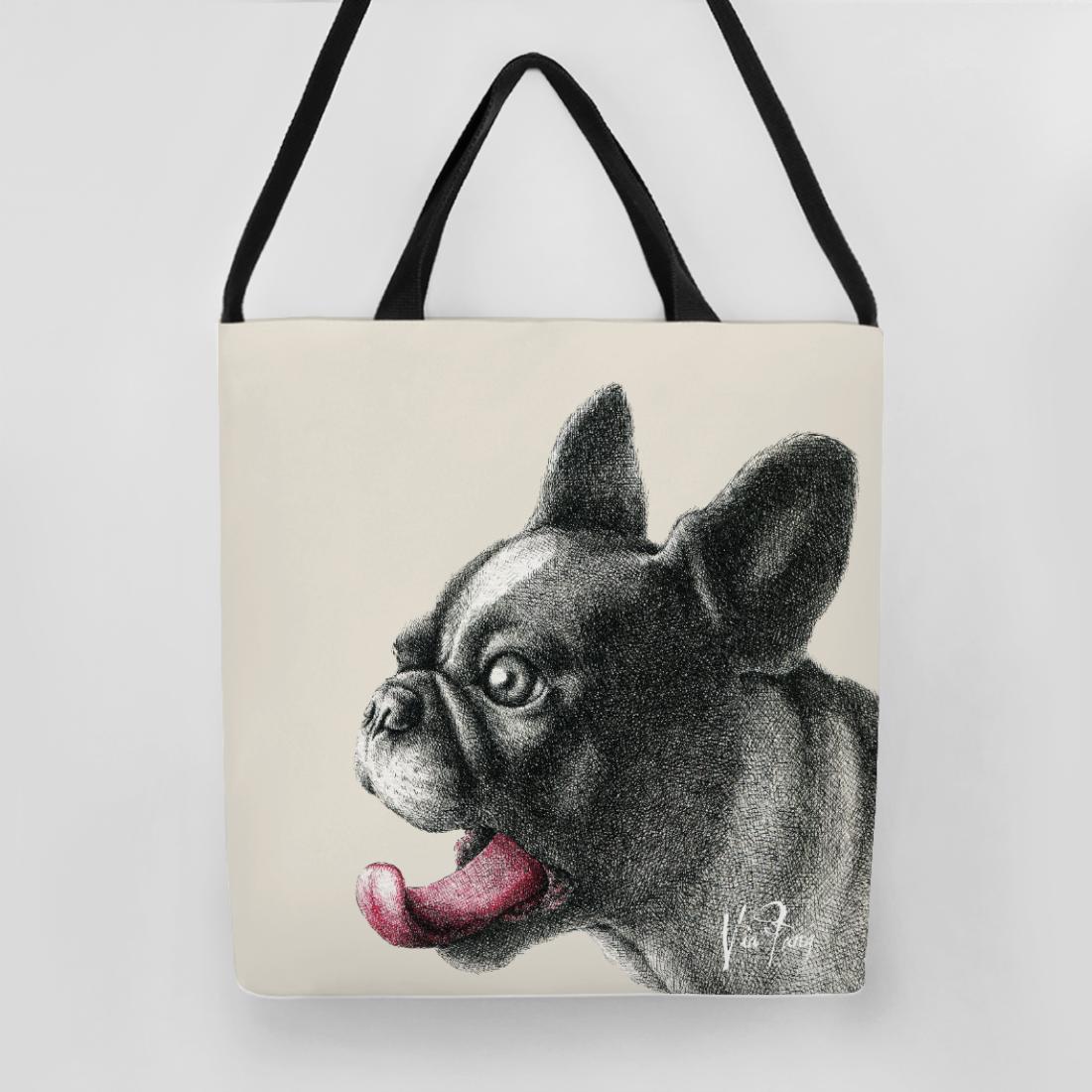 BURGER O'CLOCK Cream - 手提側背購物袋 - design by Via Fang | 62Icon