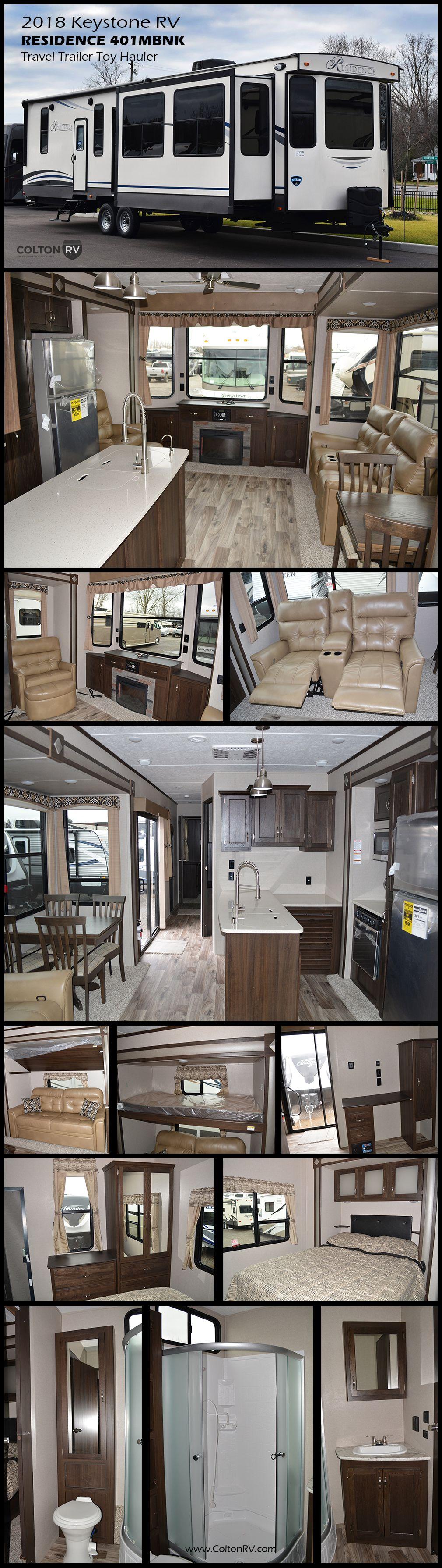 2018 Keystone Rv Residence 401mbnk Destination Travel Trailer Master King Suite Mulitpurpose Mid Den
