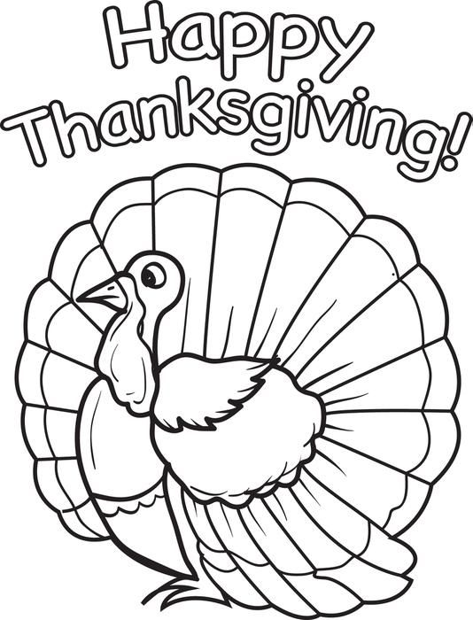 It is a photo of Turkey Printable Coloring Page in thanksgiving day