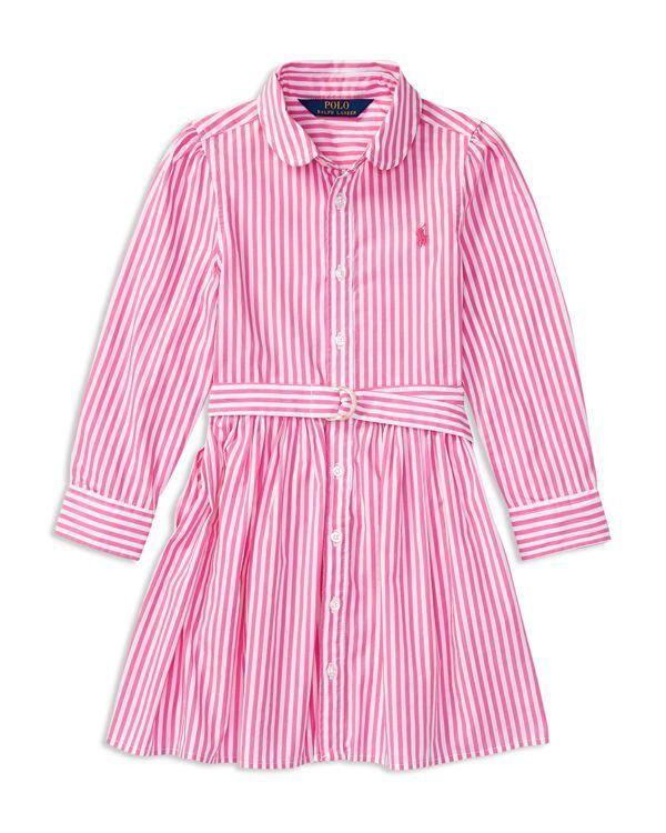e604a9b9a Polo Ralph Lauren Girls  Bengal Stripe Shirtdress - Little Kid ...