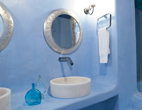 Photo Of Greek Bathroom Decor Yahoo Search Results