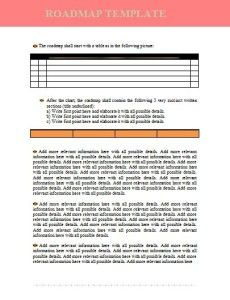 Success Roadmap Template Word Excel PDF Templates Www - Roadmap template word