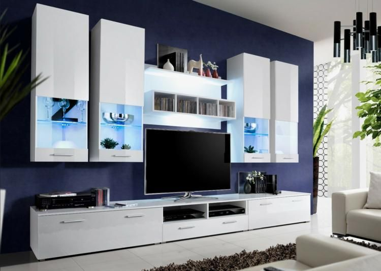 Integrierte TV-Möbel mit Bibliothek - 75 moderne Ideen Haus and