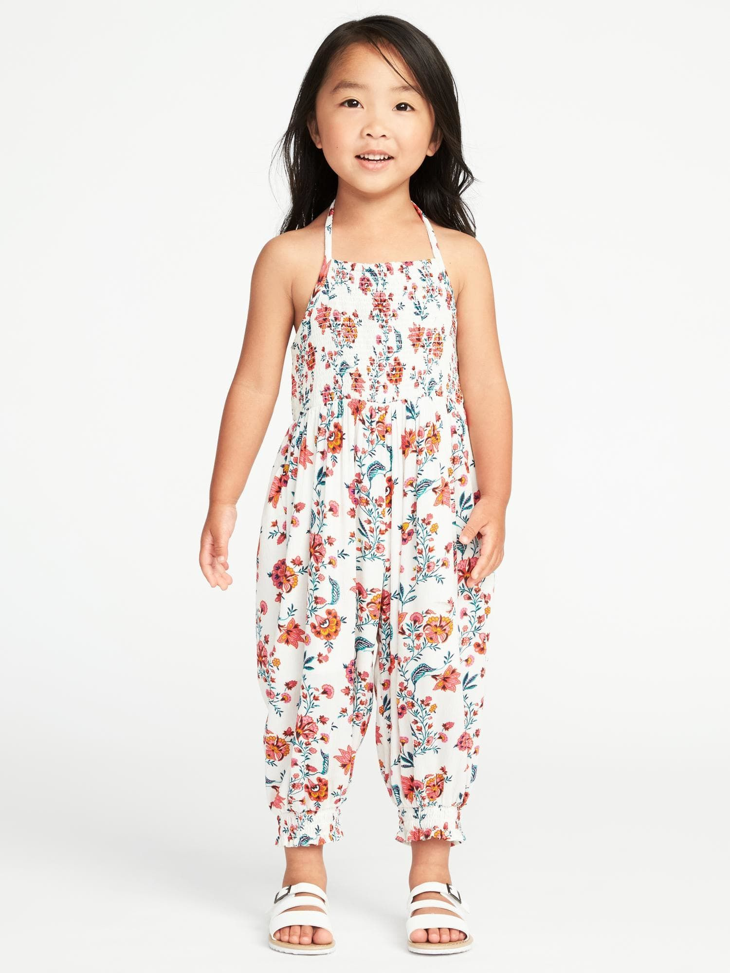 a25dd033e Smocked Floral Jumpsuit for Toddler Girls | Old Navy | maddie fall ...