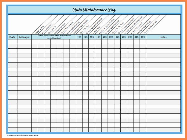 30 Equipment Maintenance Schedule Template Excel in 2020