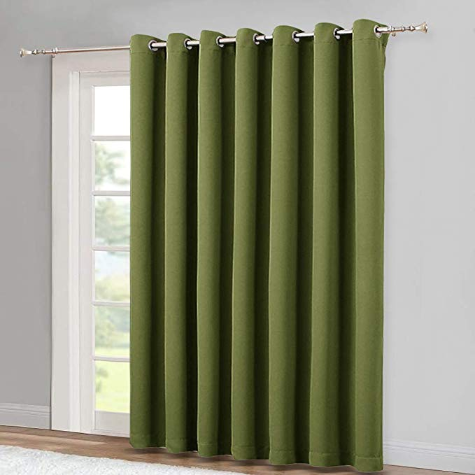 Amazon Com Nicetown 95 Inches Patio Door Curtains Thermal Drapes Sliding Door Blinds For Hotel And Of Patio Door Curtains Sliding Door Blinds Thermal Drapes
