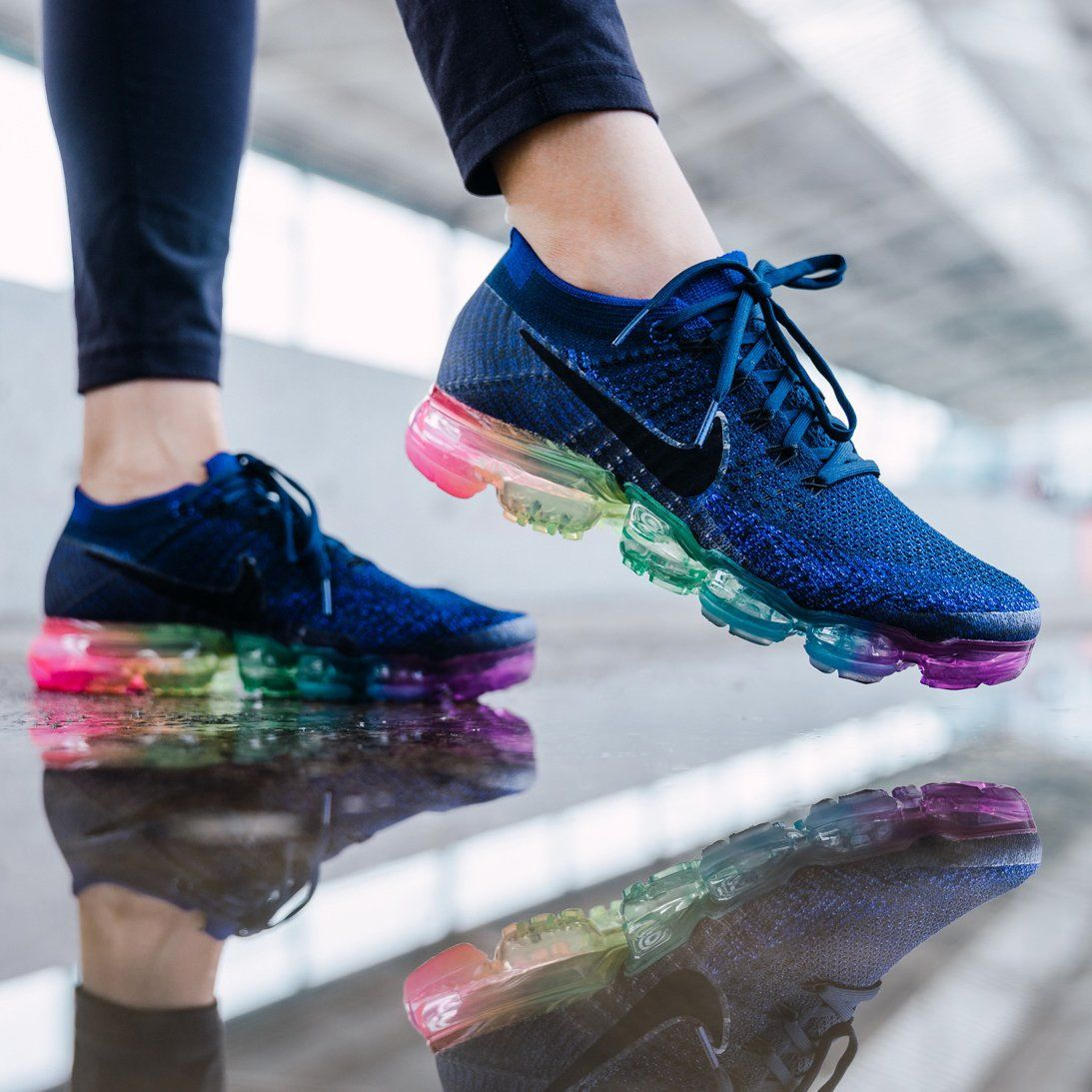 a7e896f48de Nike Air Vapormax Flyknit Be True Women s Sneakers  colorful