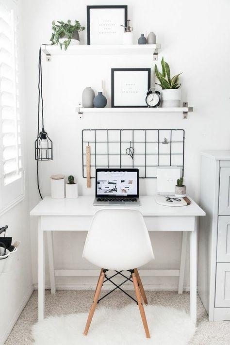 Bedroom Desk Ideas Aesthetic 15 Ideas | Home office design ...