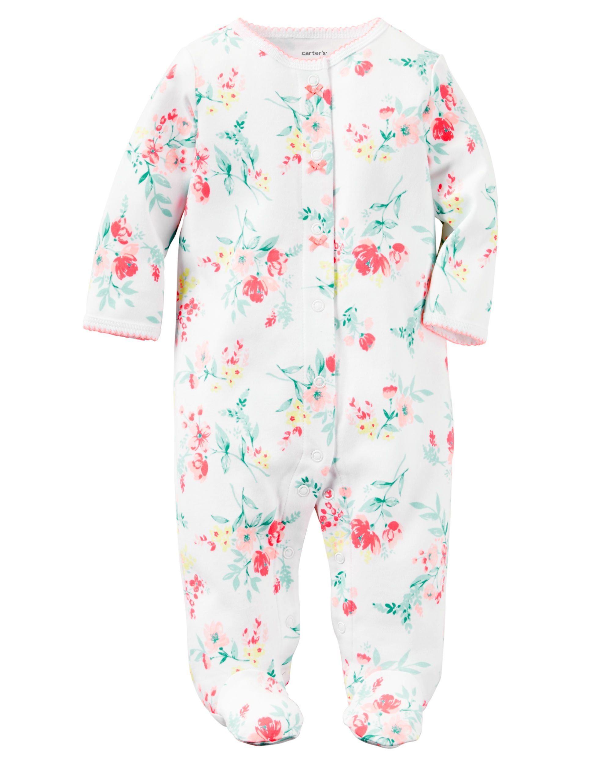 cc1c75c4bee4 Baby Girl Cotton Snap-Up Sleeper